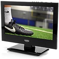 Xoro PTL 1330 33.78 cm (13.3 Zoll) FullHD LCD Fernseher mit integriertem 8000 mAh Akku (Triple Tuner DVB-S2/T2/C, H.265/HEVC-Decoder, HD Mediaplayer und CI+ Schacht) schwarz