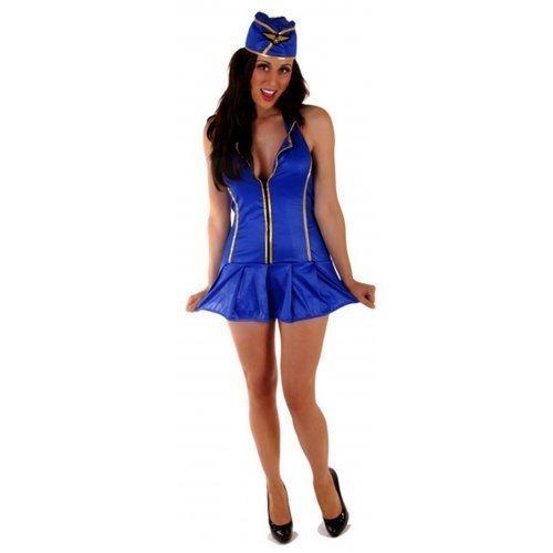 Für Damen: Sexy Stewardess Airline Pilot Trolley Dolly Britney Spears giftig Kostüm (Pilot Kostüme Airline)