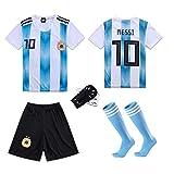 SHINEBON Copa del Mundo 18 Y La Americas Cup 16 Argentina Messi 10 F/útbol Home Camiseta Y Pantalones Calcetines 2018//2019 Todos Los Tama/ños NI/ÑO Y Adulto