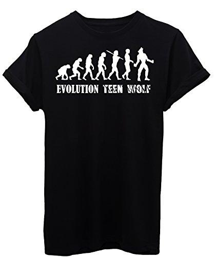 Image T-Shirt Evolution Teen Wolf Damen-M - Schwarz