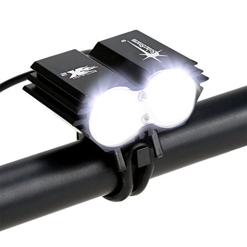 Luz Delantera de Bicicleta Recargables Impermeable 5000LM LED Linternas Frontales + 6400...