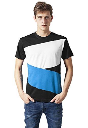 Image of Urban Classics Zig Zag Tee Shirts Streetwear Men, blk/tur/wh, XL