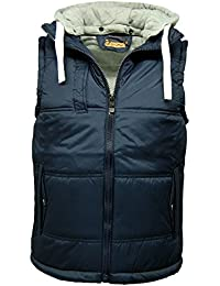 Mens Quilted Hooded Gilet / Padded Bodywarmer Jacket - E09