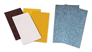 Peha ® Carré de tissu en feutrine / patins protecteurs en feutres adhésifs - pour meubles- 100 x 200 mm (1,7/3/5 mm d'épaisseur), (4 pièces)
