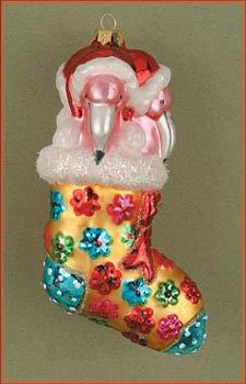 Cobane Studio LLC Flamingo Stocking Stuffers Blue Ornament