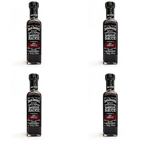 Offre 4Sauce Barbecue Hot Chili piment fort 260gr Jack Daniel
