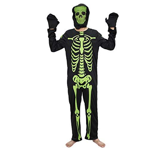 Männlich Kostüm Teufel - Ende der Wüste Halloween Kostüm Teufel Kleidung Dress Up Adult Screaming Ghost Mask Scare Scary Skeleton männliche Kleidung (Size : A)