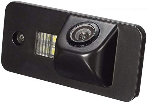 Kalakass 12V HD CCD Rückfahrkamera für Auto Nummernschild mit 170 Grad Weitwinkel-Objektiv Nachtsicht wasserdichte IP67 Einparkhilfe fürA3 A4 A5 A6 A6L A8 Q7 S4 RS4 S5 TT