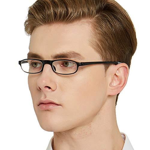 OCCI CHIARI Lesebrille Brillen Lightweight 180° Foldable Full-Rim TR90 Rectangle Reading Alte Mann Lesebrille Glasses for Herren and Women(+150+200+250+300)