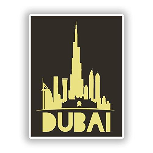 2x Dubai Vinyl Aufkleber Reise Gepäck # 10451 - 10cm/100mm Wide