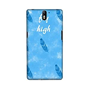 OnePlus One Perfect fit Matte finishing Motivational Quote Mobile Backcover designed by Aaranis(Blue)