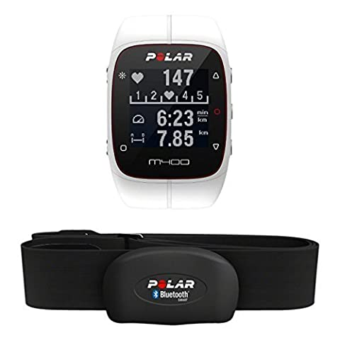 Polar M400 GPS Watch with Heart Rate Monitor - White