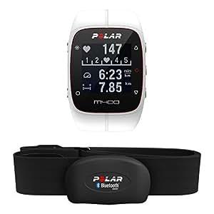 Polar M400 Orologio GPS con fascia cardio bluetooth smart per Corsa Outdoor e Indoor, Bianco
