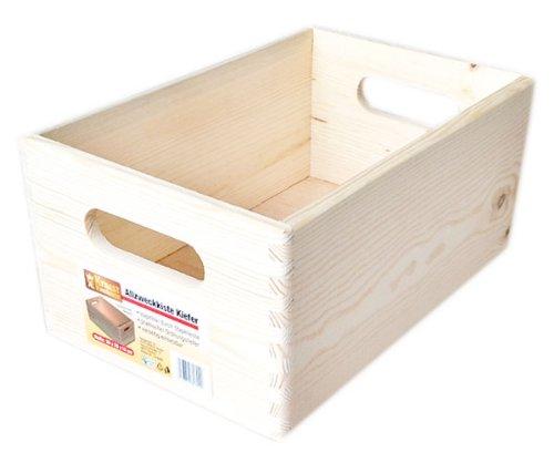1x Allzweckkiste Kiefer Holz Kiste Allzweck Box 30x20x14 cm