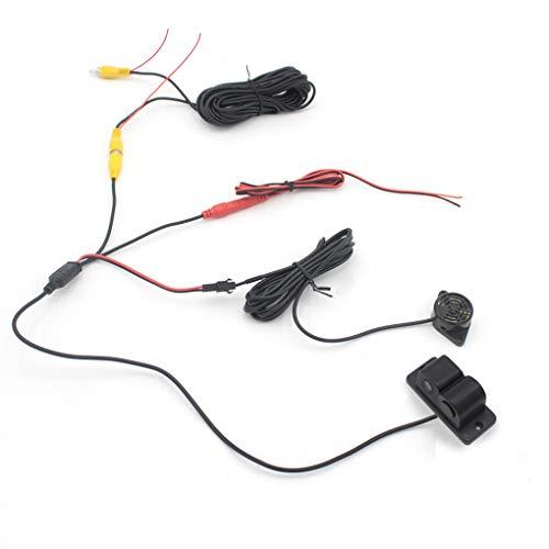 41wzKotUy9L - Luckiests 2 en 1 Auto estacionamiento del sensor del sonido de alarma del revés del coche del vídeo de copia de seguridad del coche granangular de alta definición marcha atrás cámara de visión trasera
