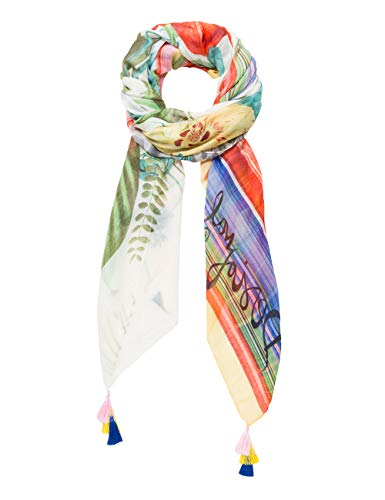 Desigual Rectangle Foulard Clio Woman White