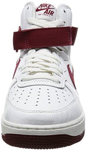 Nike Air Force 1 Hi Retro Qs, Chaussures de Handball Homme Multicolore - Blanco / Rojo (Summit White/Team Red)