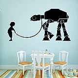 Modeganqingg Planet Battle Camel Cartoon Wandaufkleber PVC Wandkunst für Kinder Selbstgemachtes...