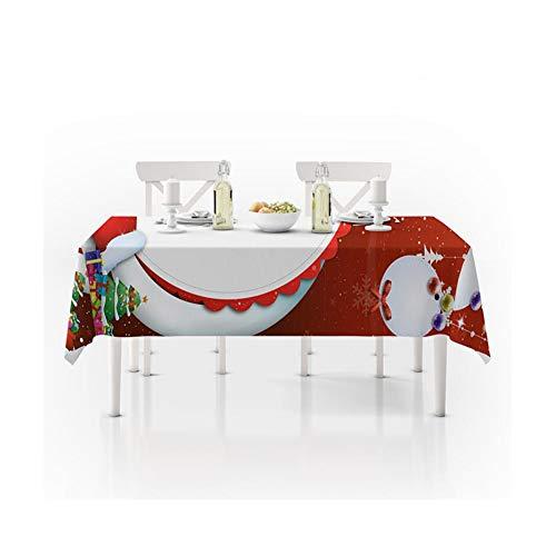 WSGZH Nappe De Noël Polyester Antipoussière Étanche Table Cover Nouvel an Dîner 3D Nappe Home Party Decor (Taille : 150 * 210)