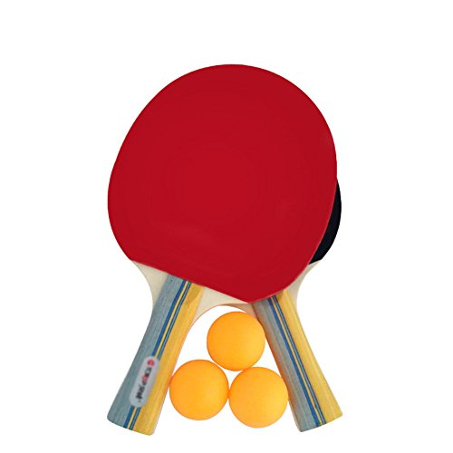 X&M Ping Pong Paddel - 1 Pro Premium tischtennisschläger,Schläger und 3 tischtennisbälle,Professionell Freizeit Spiel Racket,Beste Profi tischtennisschläger mit hochleistungs-Kautschuk-B