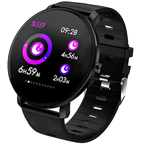 Montre Intelligente Bluetooth Smartwatch Sport Smart Bracelet connectée Etanche Fitness Trackers d'activité avec Écran Tactile (Black)