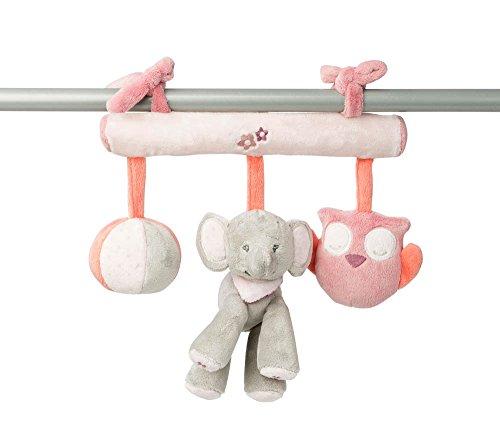 Nattou Babyschale Spielzeug Mädchen, rosa - Adèle und Valentine