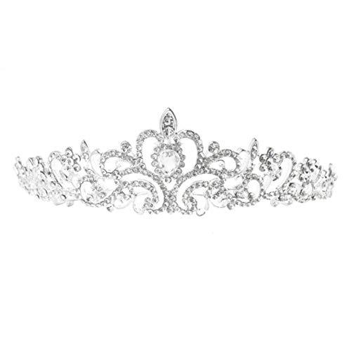 Tellaboull for 1pcs Moda Nuziale Principessa di Cristallo Austriaco diadema da Sposa Corona Velo Accessori Gioielli per Capelli Accessori da Sposa