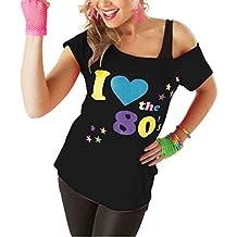 Classy Fashion Mujeres Amo la Camiseta de los Años 80 Top Ladies I Love 80s Vestido