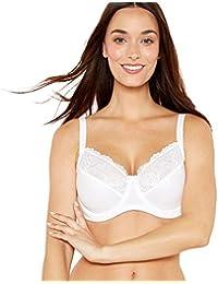f85279edf42 Debenhams Gorgeous Dd+ Womens White Cotton Blend Underwired Non-Padded  Miniser Bra