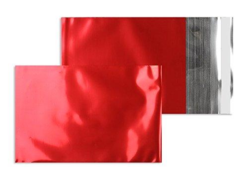 Farbige Folienumschläge | Premium | 229 x 324 mm (DIN C4) Rot (250 Stück) mit Abziehstreifen | Briefhüllen, Kuverts, Couverts, Umschläge mit 2 Jahren Zufriedenheitsgarantie