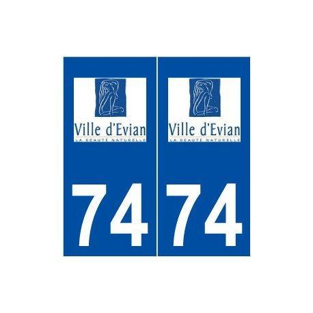 74-evian-les-bains-logo-autocollant-plaque-stickers-ville-droits