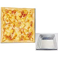 """Pizza Pan Square Shape Oven Cooking 1.2"""" deep set of 3 Size 9"""", 11"""" & 13"""" Pie Baking Dish"""