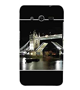 For Samsung Galaxy Core 2 G355H :: Samsung Galaxy Core II :: Samsung Galaxy Core 2 Dual beuatiful bridge ( beuatiful bridge, bridge, light, river ) Printed Designer Back Case Cover By CHAPLOOS