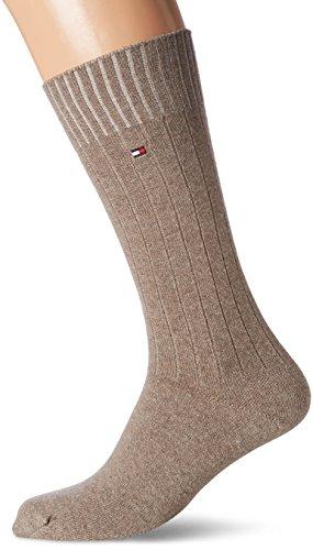 Cashmere Herren-socken (Tommy Hilfiger Herren Socken TH Men Washington Cashmere Blend 1P,  Beige (Melange 050), 41/42)