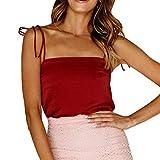 Linkay T Shirt Damen Langarm Bluse Tops Tube Top Wort Oberteile Mode 2019 (Rot, Large)