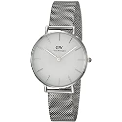 Daniel Wellington DW00100164 - Reloj de pulsera de cuarzo para Mujer, con correa de malla plateada