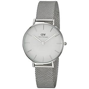 Daniel Wellington DW00100164 – Reloj de pulsera de cuarzo para Mujer, con correa de malla plateada