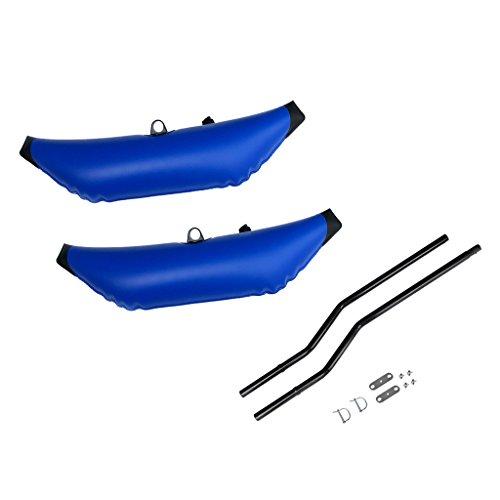 Especificación:      Estabilizador inflable Kayak    Material: PVC   Longitud: Aprox. 90 cm / 35,4 pulgadas   Ancho: Aprox. 28 cm / 11 pulgadas   Color blanco   Cantidad: 2 Piezas   Estabilizador de kayak Poste de poste    Material: Aleación ...