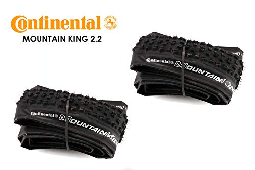 2 Stück 29x2.2 Continental Mountain King Race 55-622 Falt Fahrrad Reifen Tire