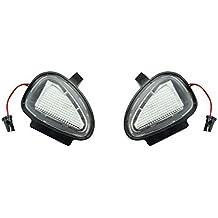 EX1 Auto Coche Bajo la Lámpara de Espejo Luz LED 6500K para Volkswagen VW Golf 6 GTI Cabriolet Passat Touran (Luz Blanca)
