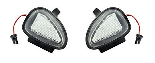 EX1 Auto Voiture Lumière Sous Le Rétroviseur Lampe LED 6500K pour Volkswagen VW Golf 6 GTI Cabriolet Passat Touran (Lumière Blanche)