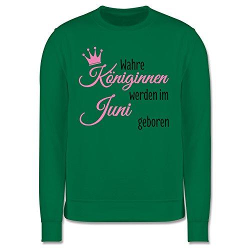 Geburtstag - Wahre Königinnen werden im Juni geboren - Herren Premium Pullover Grün