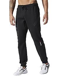 Reebok Mens Os Qc Track Pants in Black