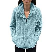 Hanomes Damen Pullover,Damen Sweatshirt Mantel Winter warme Wolle Flauschige Pullover Einfarbig Baumwolle Sweatshirt... preisvergleich bei billige-tabletten.eu