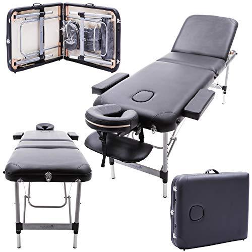 Massage Imperial® - tragbare Massageliege Richmond - Aluminium - 12 kg - 5 cm Schaumstoff - schwarz -