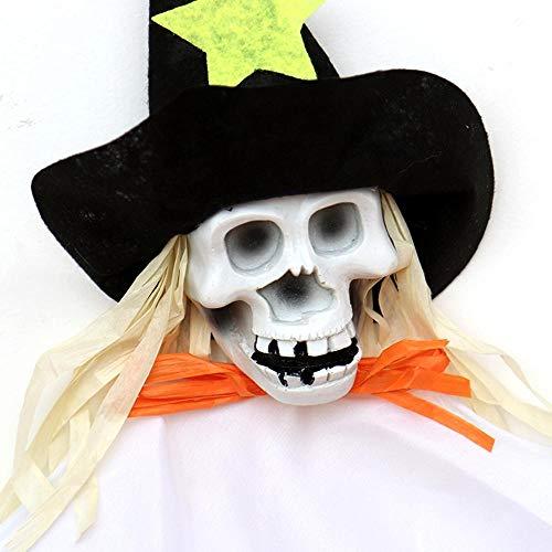 Lxj Halloween hängende Windspiele Vogelscheuche Mädchen Hexe Bar Ktv Dekoration Festliche Stimmung Requisiten Spielzeug