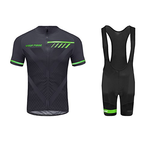Uglyfrog 2018-2019 Männer Fahrrad Breathable Sommer Herren Fahrradtrikot Outdoor Sports Wear Triathon Rikots & Shirts+Trägerhosen Sets