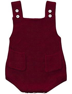 Omiky® Neugeborene Baby-Mädchen-gepaßte Kleinkind-Taschen-Overall-Kleidung-Spielanzug-Ausstattung