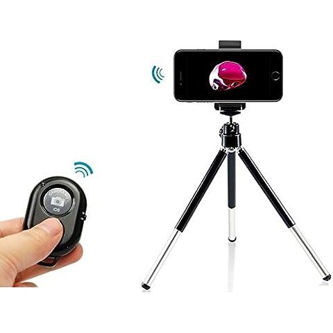 Bluetooth otturatore della fotocamera telecomando+ Treppiede Supporto culla Supporti per iPhone 7 plus,iPhone 7