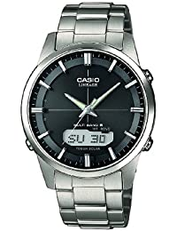 Casio Wave Ceptor - Herren-Armbanduhr mit Analog/Digital-Display und Massives Titanarmband - LCW-M170TD-1AER